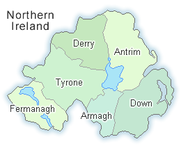 Map Of Northern Ireland With Counties.Map Of Northern Ireland 6 Counties Twitterleesclub